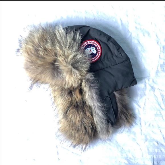 ea10d23baf2 Authentic Canada goose aviator fur bomber hat